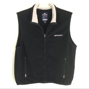 Polo Jeans Co. XL Black Fleece Zip Up Light Vest